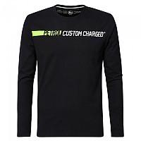[해외]PETROL INDUSTRIES Long Sleeve Round Neck T-Shirt Black