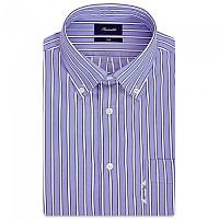 [해외]FA?ONNABLE Casual Club Button-Down 10 Long Sleeve Shirt Blue / White