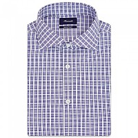 [해외]FA?ONNABLE Casual Contemporary Garibaldi 10 Long Sleeve Shirt Blue / White