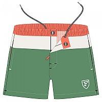 [해외]FA?ONNABLE Open Volley Color Block F Emb Bk Pocket Swimming Shorts Green / Orange