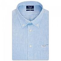 [해외]FA?ONNABLE Sportswear Club Button-Down Azur 1 Long Sleeve Shirt Broadway Blue