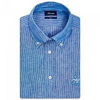 [해외]FA?ONNABLE Sportswear Club Button-Down Birdie 3 Long Sleeve Shirt Blue / Sky