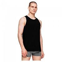 [해외]4F Sleeveless T-Shirt Deep Black / Cold Light Grey Melange