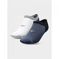 [해외]4F Socks White / Navy Melange