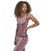 [해외]험멜 Cleaa Seamless Sleeveless T-Shirt 3138038217 Fudge / Woodrose Melange