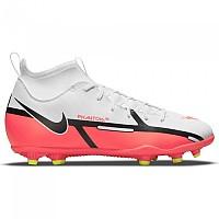 [해외]나이키 Phantom GT2 Club DF FG/MG Football Boots 3138253629 White / Bright Crimson-Volt
