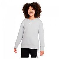 [해외]나이키 Sportswear Club Long Sleeve T-Shirt 15138253997 Lt Smoke Grey / White