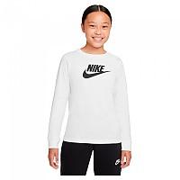 [해외]나이키 Sportswear Long Sleeve T-Shirt 15138254206 White / Black