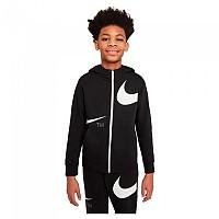 [해외]나이키 Sportswear Swoosh Fleece Full Zip Sweatshirt 15138254372 Black / White