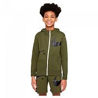 [해외]나이키 Sportswear Swoosh Fleece Full Zip Sweatshirt 15138254374 Rough Green / Black