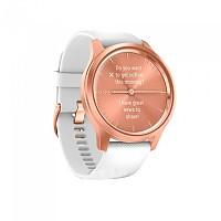 [해외]가민 Vivomove Style Watch 1137739912 Rose Gold / White Silicone