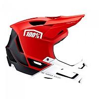 [해외]100% Trajecta Downhill Helmet Refurbished 1138366834 Red