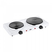 [해외]EDM 1000-1500W Electric Kitchen 2 Stoves 4138364364 Black / White