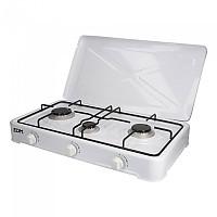 [해외]EDM Gas Cooker 3 Stoves 4138364417 White / Black
