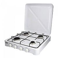 [해외]EDM Gas Cooker 4 Stoves 4138364418 White / Black