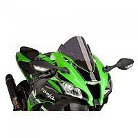[해외]PUIG Z-Racing Windshield Kawasaki ZX-10R/KRT Replica/SE&ZX-10RR 9138370038 Dark Smoke
