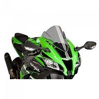 [해외]PUIG Z-Racing Windshield Kawasaki ZX-10R/KRT Replica/SE&ZX-10RR 9138370040 Smoke
