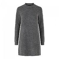 [해외]PIECES Chapa Long Sleeve O Neck Knit Dress Dark Grey Melange