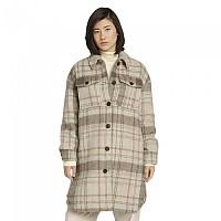 [해외]TOM TAILOR Plaid Long Coat Beige Check Design