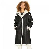 [해외]JJXX Casey Long Faux Shearling Coat Black