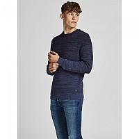 [해외]잭앤존스 Thomas Crew Neck Sweater Denim Blue / Detail Twisted With Sky Captain