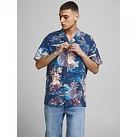 [해외]잭앤존스 Tropicana Resort Short Sleeve Shirt Ensign Blue