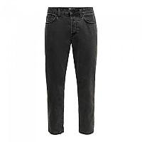[해외]ONLY & SONS Avi Beam Life Crop Black Pk 0314 Jeans Black Denim