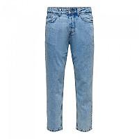 [해외]ONLY & SONS Avi Beam Life Crop Blue Pk 0313 Jeans Blue Denim